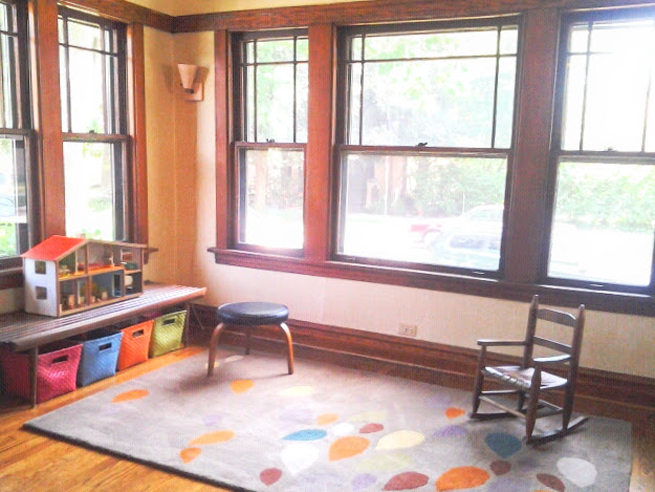 image chicago bungalow sunroom playroom