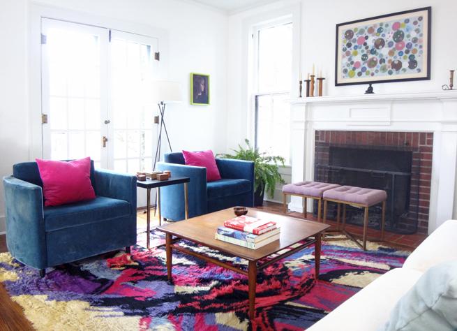 image living room modern old house