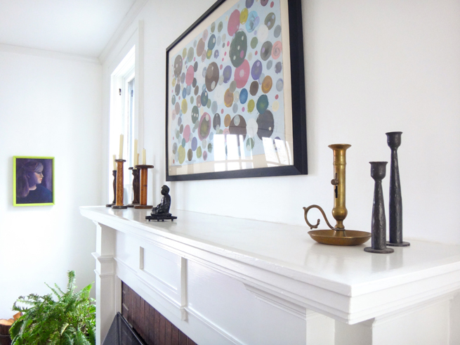 picture mantle piece and artwork
