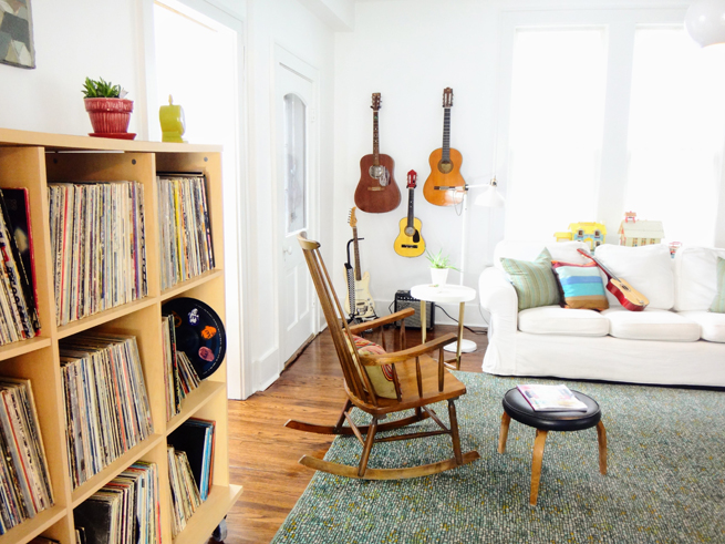 picture family room record cabinet