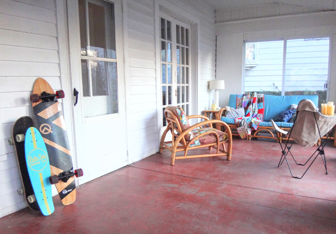 picture enclosed back porch