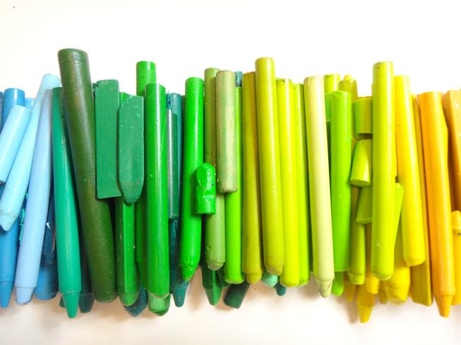 image crayon green yellow