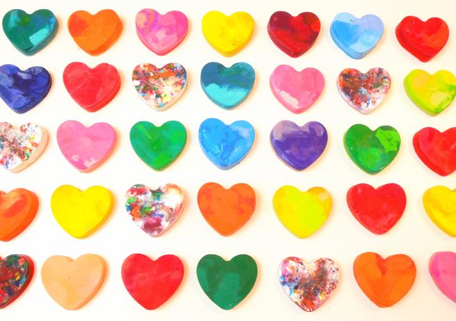 image crayon hearts