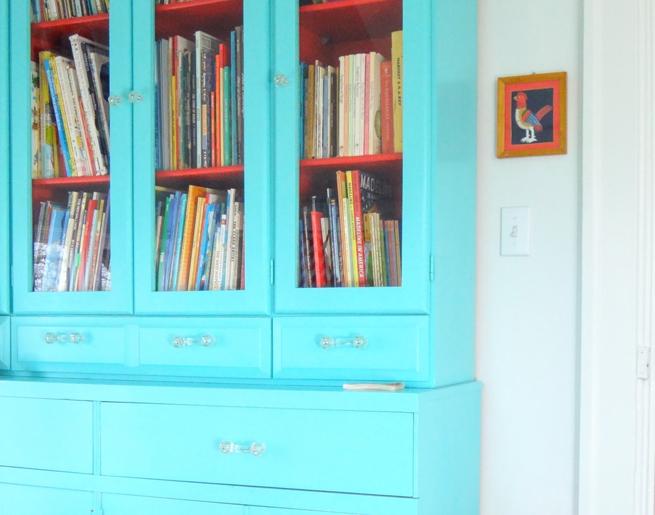 picture aqua blue cabinet