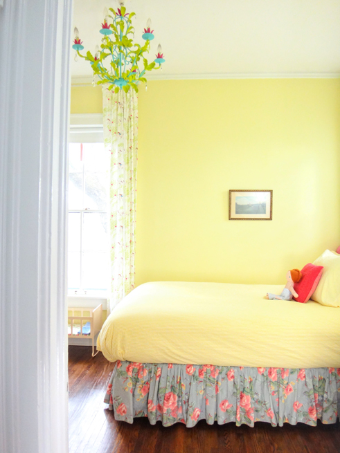 picture girls room and antique chandelier