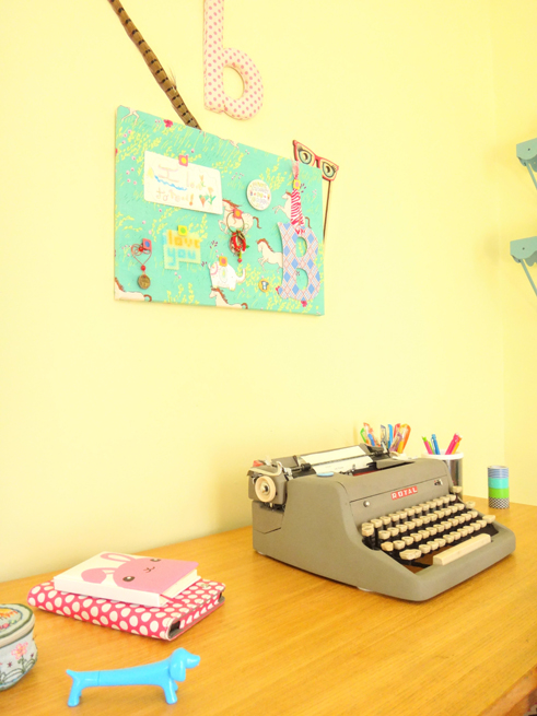 picture girl's desk