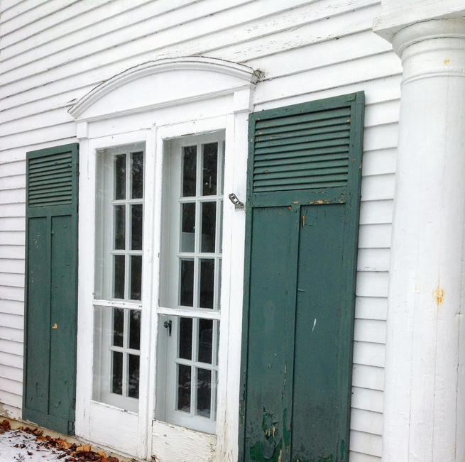 image old shutters old house french doors exterior