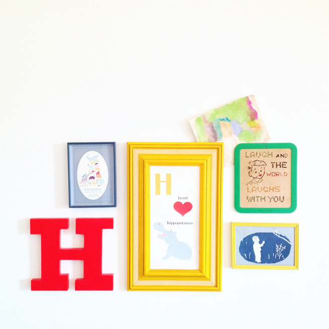picture wall art letter H