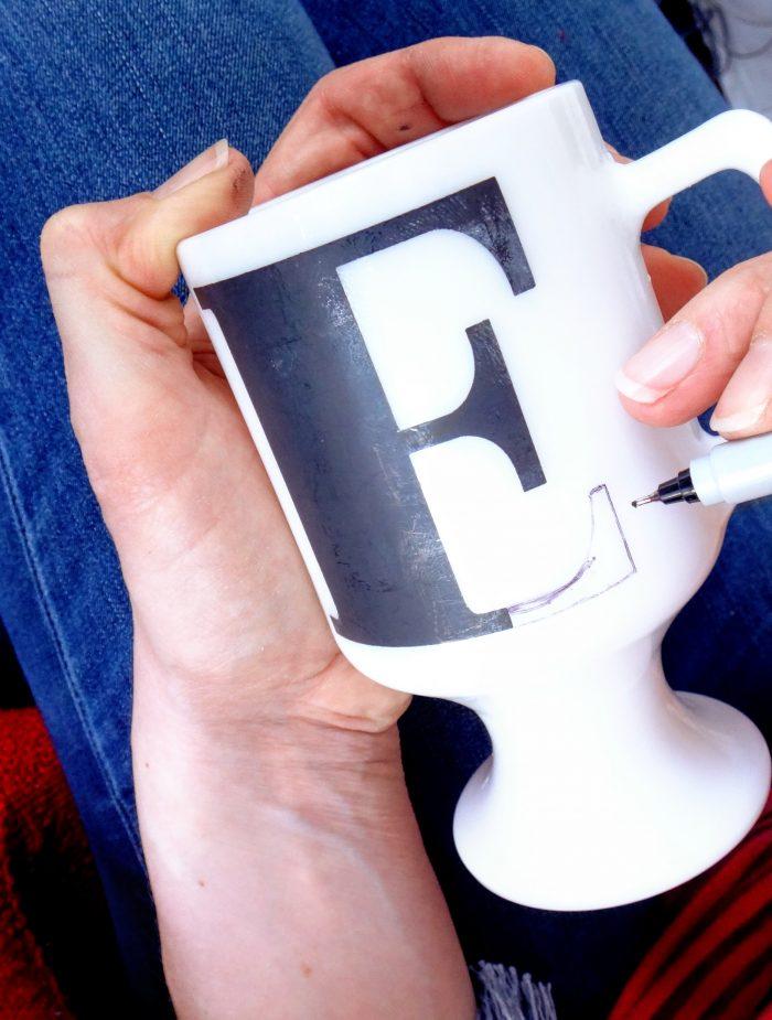 image monogram mug sharpie