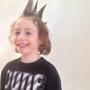 image boy with liberty spikes in hair